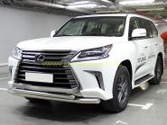 Защита переднего бампера  76х60 мм для Lexus LX 2015 -