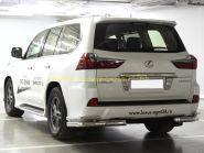 Защита заднего бампера 76х53 мм для Lexus LX 2015-