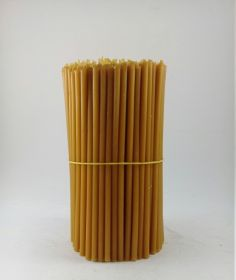 Свечи церковные восковые № 80, 1 кг. Длина 19 см, диаметр 6 мм. 200 штук/пачка