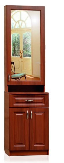 Пенал, 1 зеркальная дверь, 1 ящик, 2 двери.  Модуль 02,  Визит