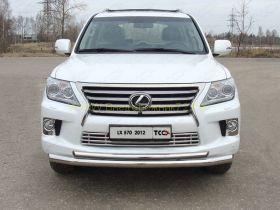 Защита переднего бампера 76х50 мм для Lexus LX 2013-