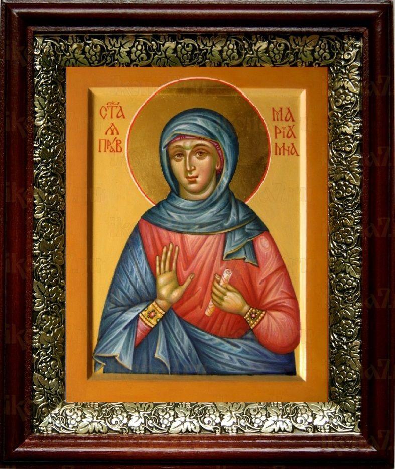 Мариамна Праведная (19х22), темный киот