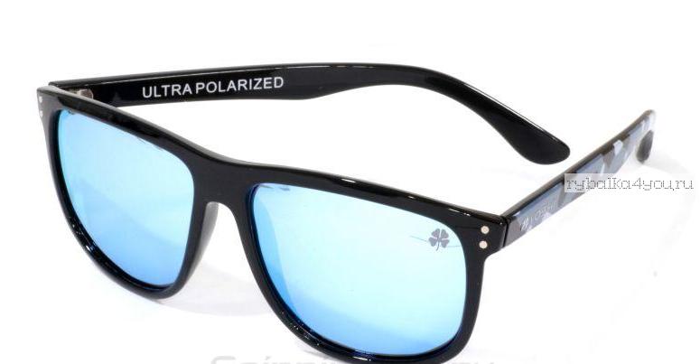 Купить Очки поляризационные Yoshi Onyx дужки синий камуфляж, синие линзы