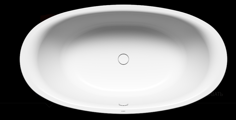 Ванна стальная Kaldawai Ellipso Duo Oval 190x100 easy clean