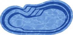 Композитный бассейн Марсель 8,0х3,5х1,0-1,65 м