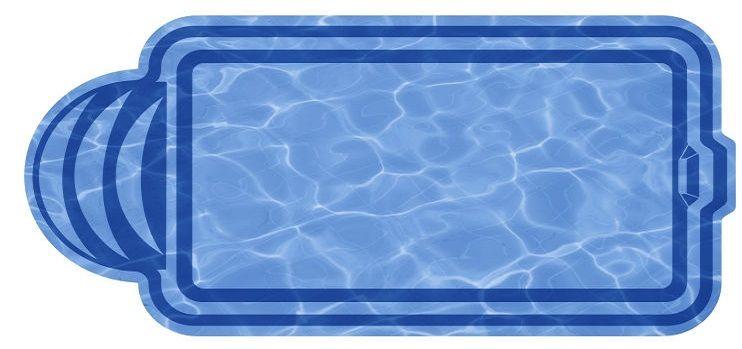 Композитный бассейн София 5,0х3,0х1,63 м