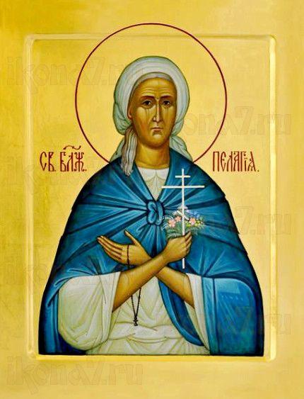 Пелагея Дивеевская (рукописная икона)