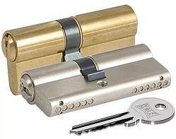 Цилиндровый механизм ключ-ключ KALE 164 GN/62  латунь 26+10+26
