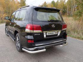 Защита заднего бампера 76 мм для Lexus LX Sport 2013-