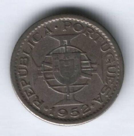 2,5 эскудо 1952 г. редкий год Мозамбик Португалия