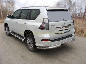 Защита заднего бампера 76х42 мм для Lexus GX 2013-