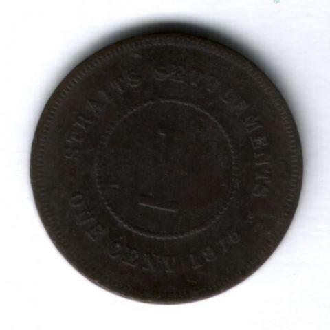 1 цент 1875 г. Стрейтс Сетлментс