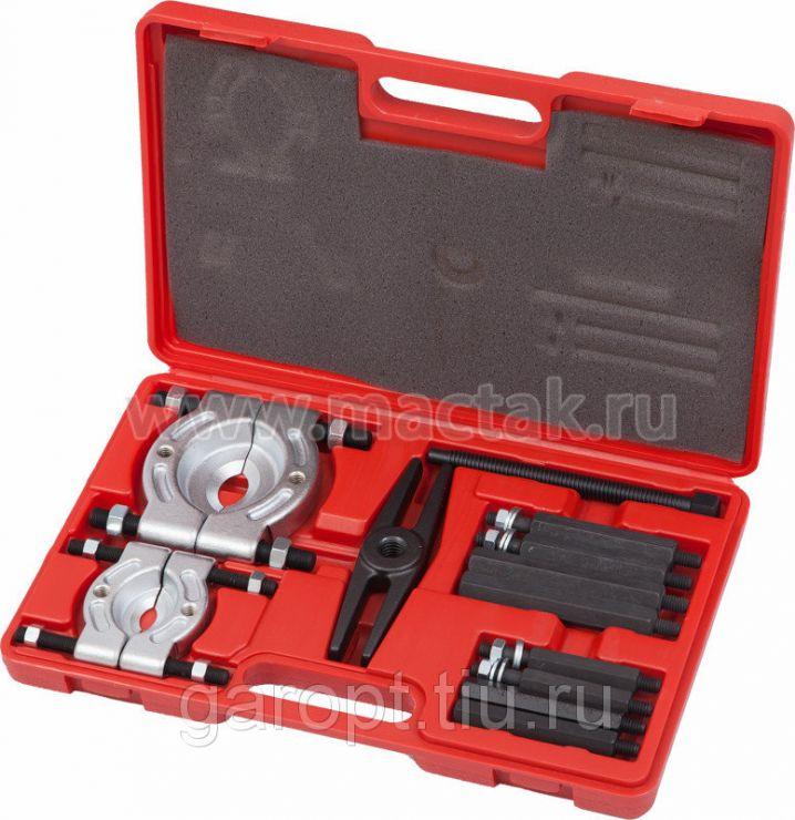 Съёмник подшипников, 30-75 мм, сегментного типа, кейс, 12 предметов МАСТАК 104-10375C