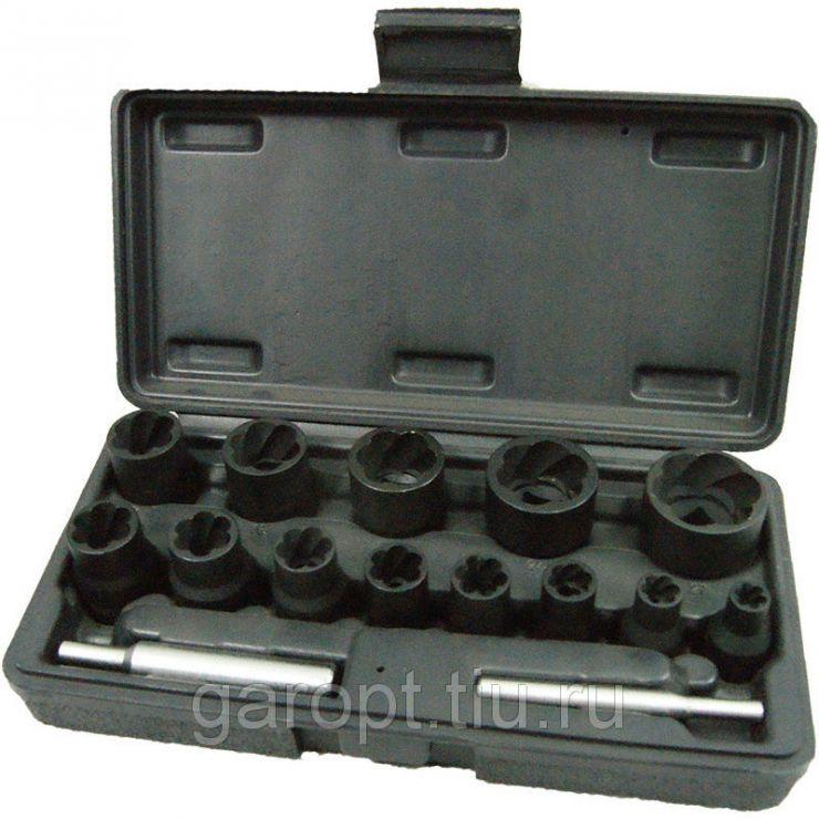 Набор торцевых головок для поврежденных гаек и болтов, 8-21 мм, кейс, кейс, 15 предметов  МАСТАК 109-30015C