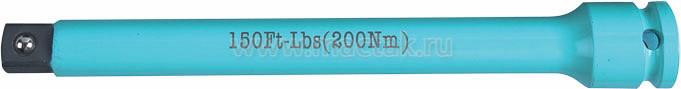 """Удлинитель торсионный 1/2"""", 195 мм, с ограничителем крутящего момента 200 Нм KING TONY 4269-08-K0"""