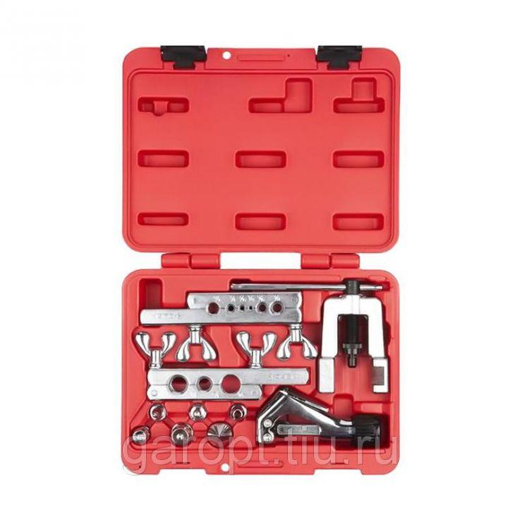 Приспособление для развальцовки и резки тормозных трубок, 4,75-12,7 мм, кейс, 10 предметов  МАСТАК 102-22416C