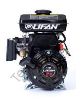 Lifan 152F четырехтактный бензиновый двигатель в стандартной комплектации, мощностью 2,5 л. с., и диаметром выходного вала 16 мм.
