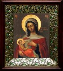Барловская икона БМ (21х24), киот со стразами