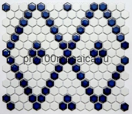 PS2326-43. Мозаика СОТЫ, серия PORCELAIN, размер, мм: 306*350*5 (NS Mosaic)