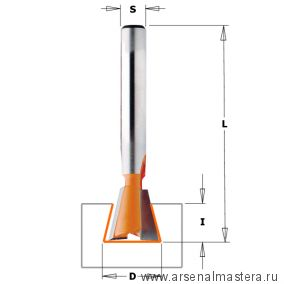 CMT 918.127.11 Фреза ласточкин хвост 14 гр. S8 D12,7x12,7