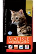 Farmina Matisse Neutered Salmon Корм для стерилизованных кошек и кастрированных котов с лососем (1,5 кг)