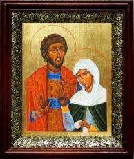 Адриан и Наталия (19х22), темный киот