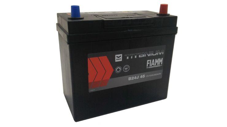 Автомобильный аккумулятор АКБ FIAMM (ФИАММ) BLACK Titanium B24J45 45Ач О.П. узкие клеммы