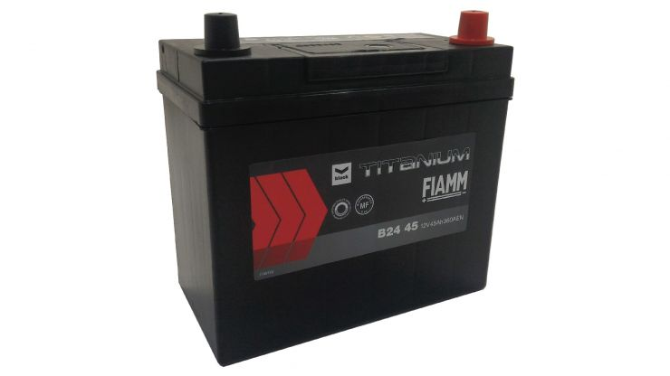 Автомобильный аккумулятор АКБ FIAMM (ФИАММ) BLACK Titanium B2445 45Ач О.П.