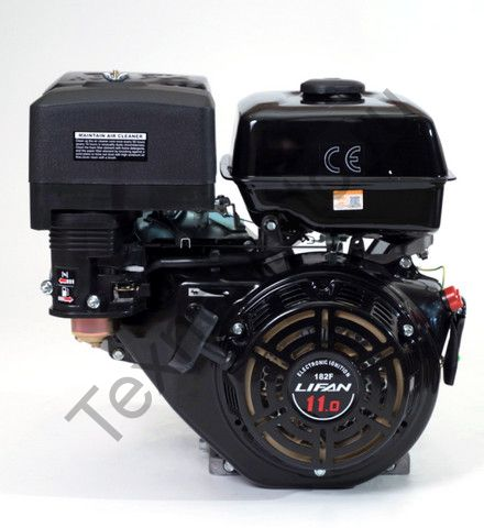 Двигатель Lifan 182F D25 (11 л. с.) с катушкой освещения 7Ампер (84Вт)