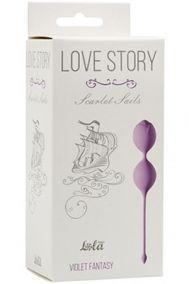 Вагинальные шарики Love Story Scarlet Sails сиреневые