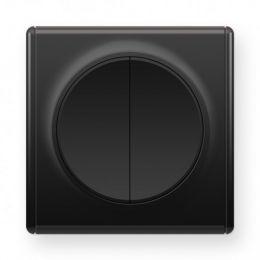 Выключатель двойной, цвет чёрный