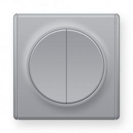 Переключатель двойной, цвет серый