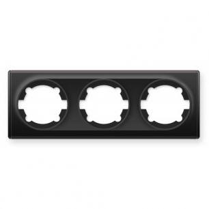Рамка тройная, цвет чёрный
