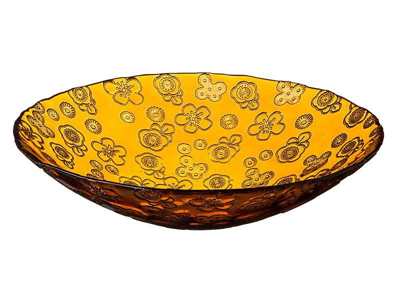 """Фруктовница """"Флора"""" 40 см, желтая"""