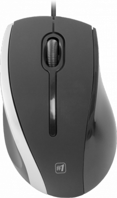 Проводная оптическая мышь MM-340 черный+серый,3 кнопки,1000 dpi