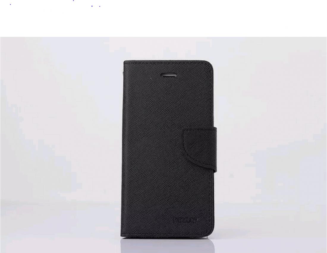 Кожаный чехол-книжка для iPhone 6/6s (черный)