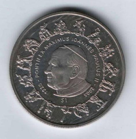 1 доллар 2005 г. Сьерра-Леоне, Папа Римский Иоанн Павел II