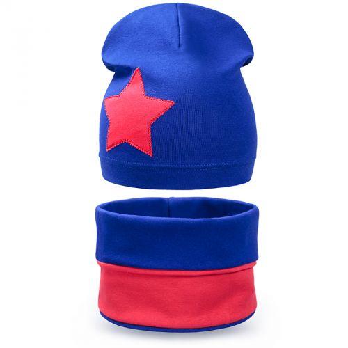 Комплект шапка и шарф для мальчика 6-12 лет №SG125
