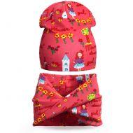 Комплект шапка и шарф для девочки 3-5 лет №SG106