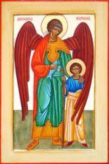 Рафаил Архангел (рукописная икона)