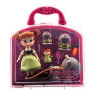 Игровой набор мини куклы аниматоры Анна с аксессуарами Дисней