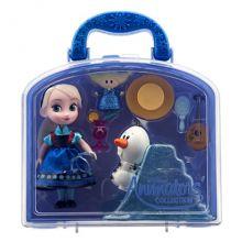 Игровой набор мини куклы аниматоры Эльза с аксессуарами Дисней
