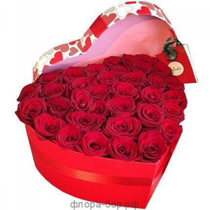 """Цветы в коробке """"Ты моя"""""""