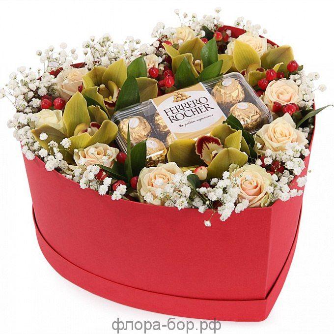 """Цветы в коробке """"Сюжет"""""""
