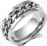 Кольцо стальное с цепочкой