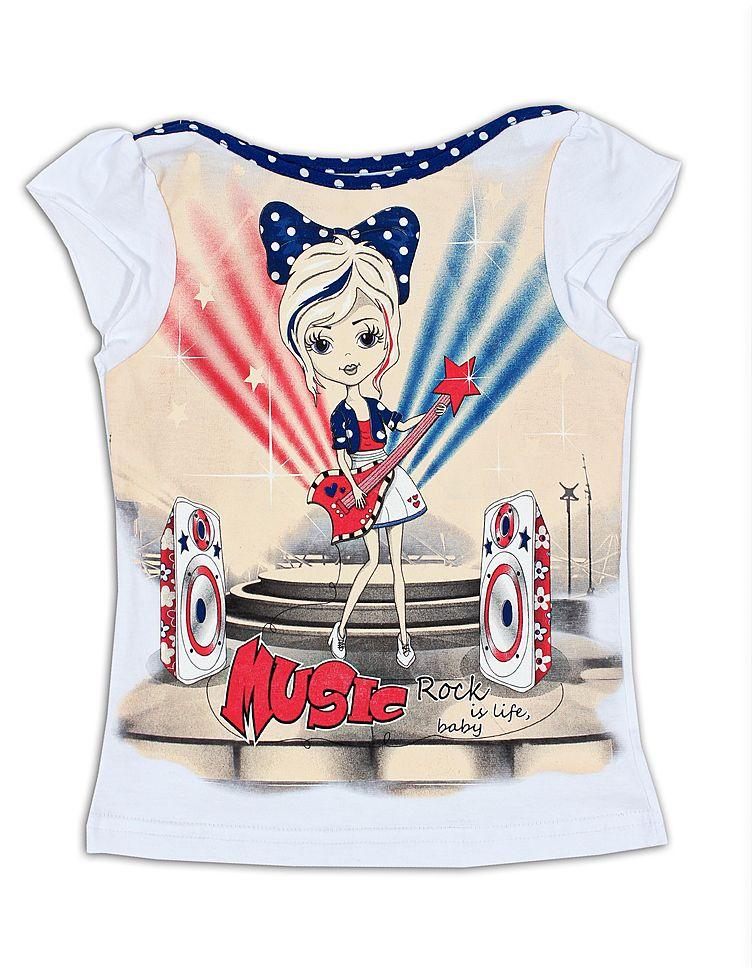 Яркая и стильная блуза для девочки
