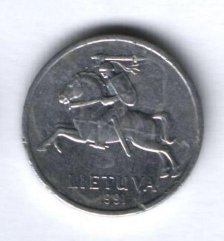 1 цент 1991 г. Литва