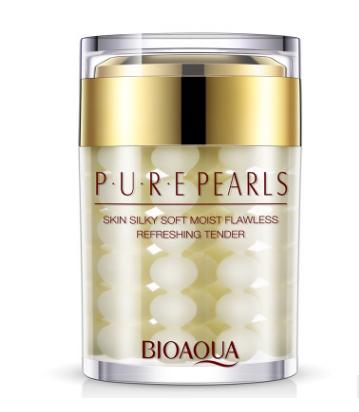 Увлажняющий  крем «BIOAQUA»с  натуральной жемчужной  пудрой.(4587)