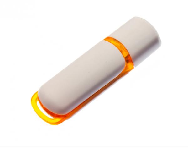 4GB USB-флэш корпус для флешки UsbSouvenir 235, белая-оранжевая