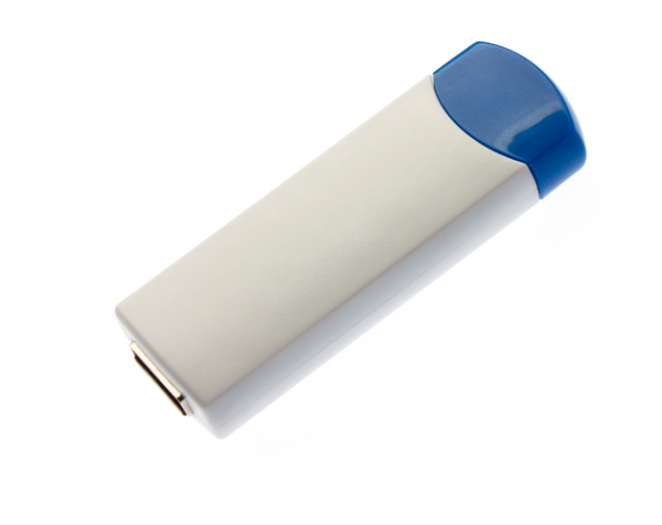 4GB USB-флэш корпус для флешки UsbSouvenir ROTATE-A, белая-синяя